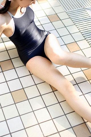 スクール水着の濡れ女子高生5