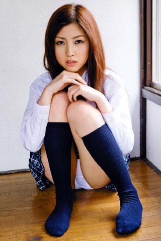 紺ハイソックスの萌える女子高生10