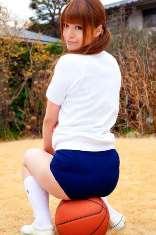 体操服にブルマ履いてる女子高生8