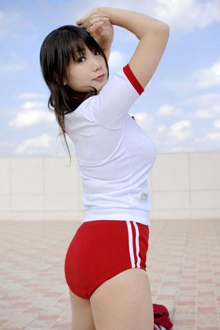 体操服にブルマ履いてる女子高生9
