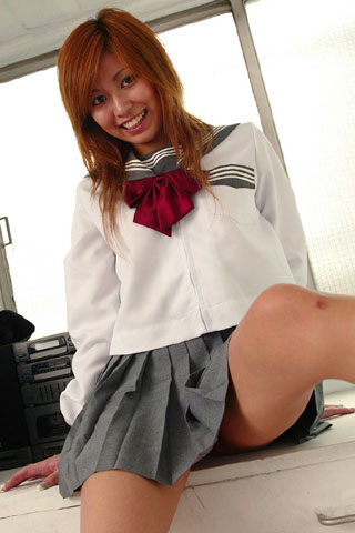セーラー服が似合ってる女子高生9