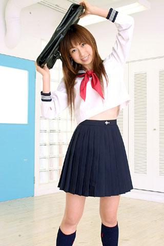 セーラー服が似合ってる女子高生10